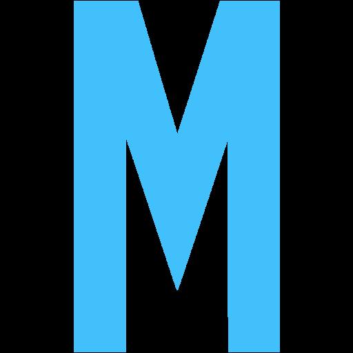 Caribbean Blue Letter M Icon