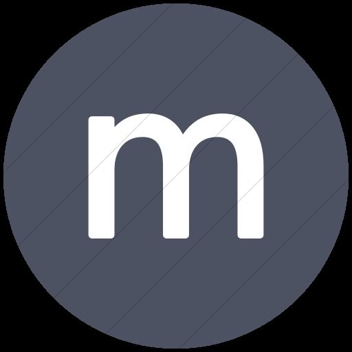 Flat Circle White On Blue Gray Alphanumerics Lowercase