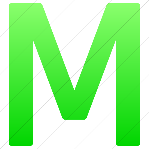 Simple Ios Neon Green Gradient Alphanumerics Uppercase