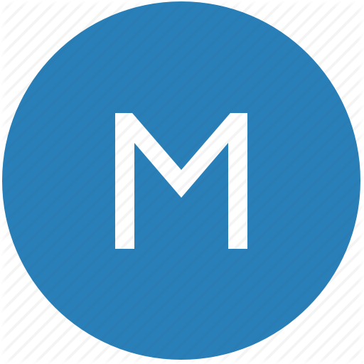 Keyboard, Latin, Letter, M, Round, Text, Uppercase Icon