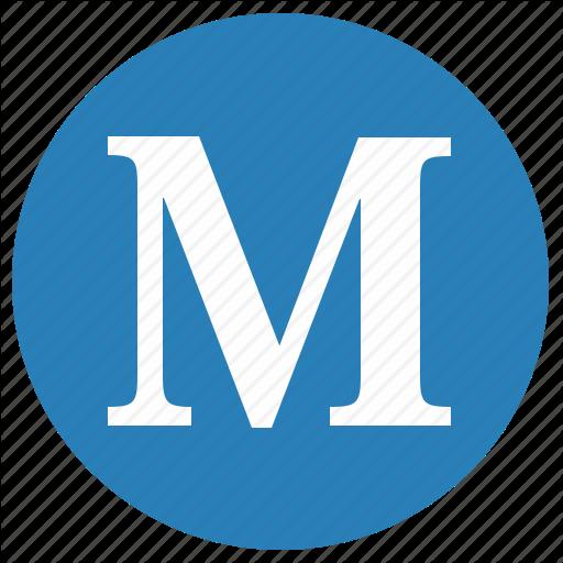 Keyboard, Latin, Letter, M, Round, Uppercase Icon