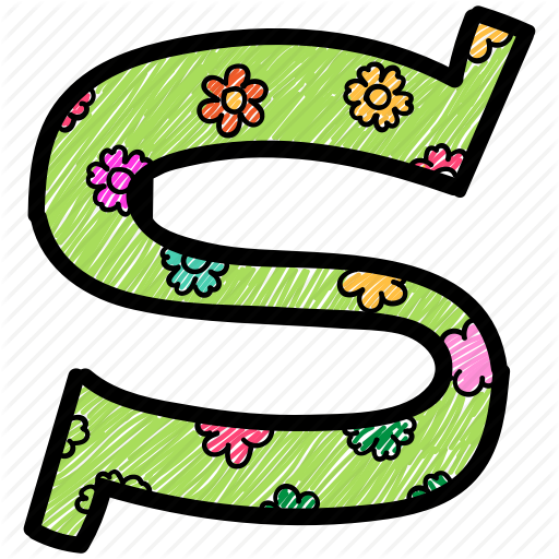 Alphabet Letter S, Capital Letter, Capital Letter S, Colored