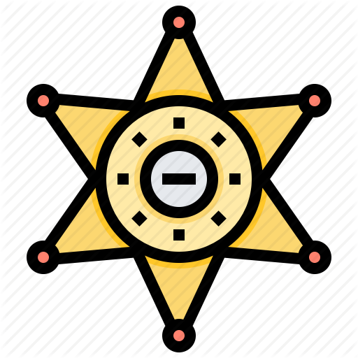 Badge, Enforcement, Sheriffs, Star Icon