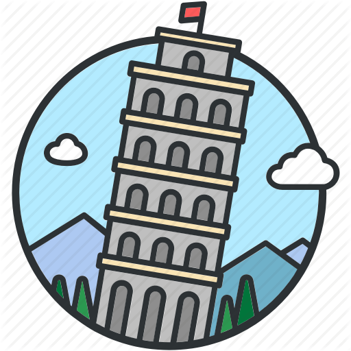 Bell, Cultures, Italy, Landmark, Leaning, Pisa, Tower Icon