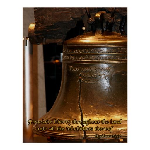 Leviticus Liberty Bell Poster Christian Posters