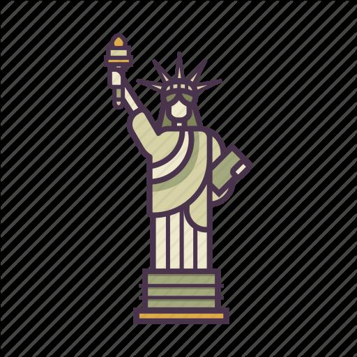 America, Freedom, Landmark, Monument, Statue Of Liberty, Travel Icon
