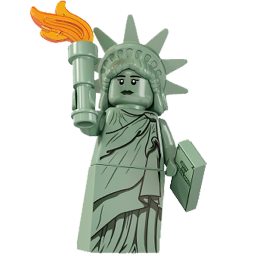 Lego, Liberty, Of, Statue Icon