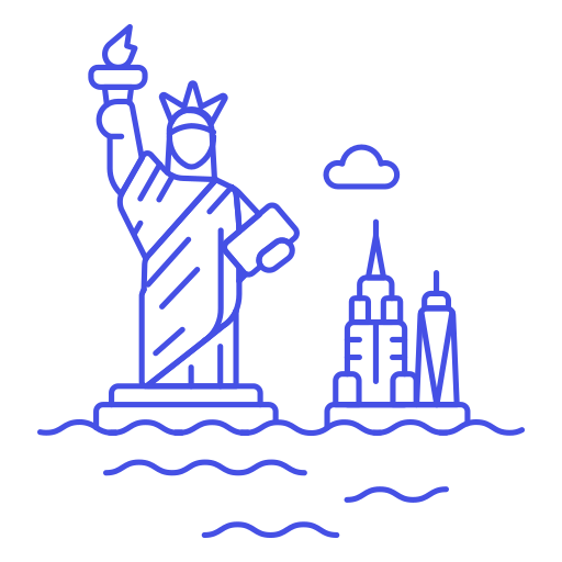 Statue, Of, Liberty Icon Free Of Stream Line Ux Free Pack