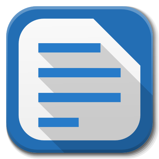 Apps Libreoffice Writer Icon Free Download As Png And Formats