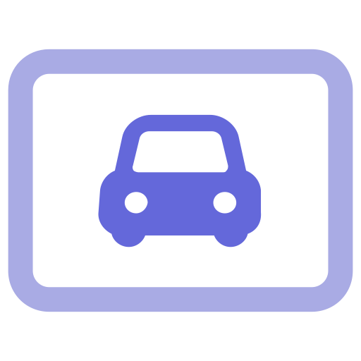 Rent License Plate, Car, Number Icon With Png And Vector Format