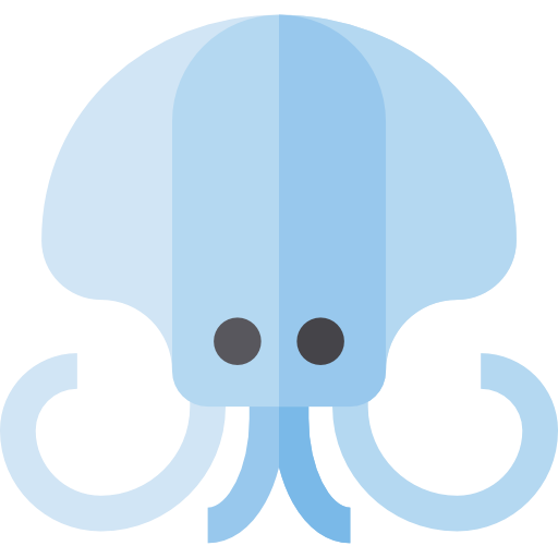 Squid, Aquatic, Sea Life Icon