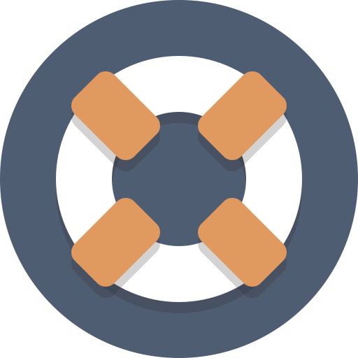 Support, Life Preserver Icon