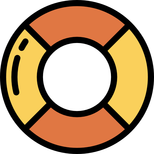 Float, Rubber Ring, Life Preserver Icon