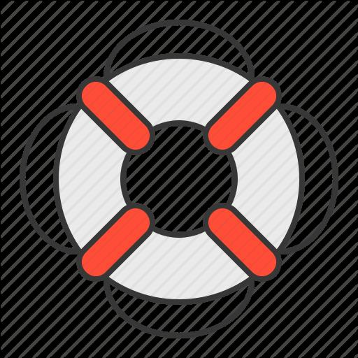 Life Ring, Nautical, Safety, Swim, Swim Ring Icon