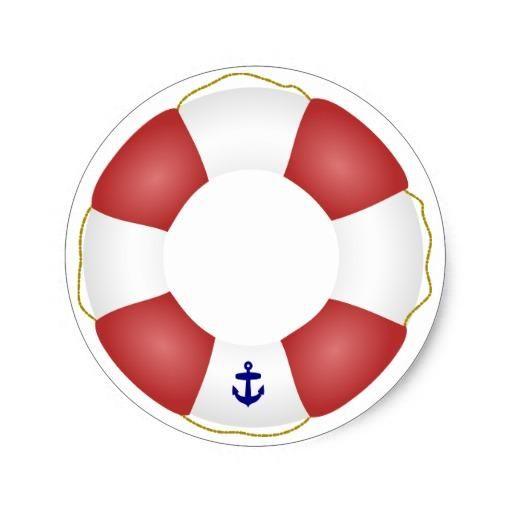 Nautical Life Preserver Classic Round Sticker Round
