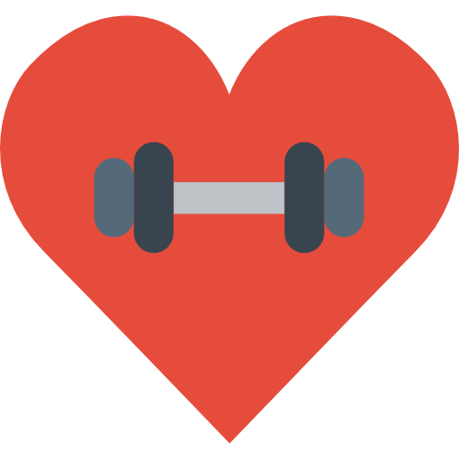 Gym, Lifestyle, Sports And Competition, Heart, Love Icon