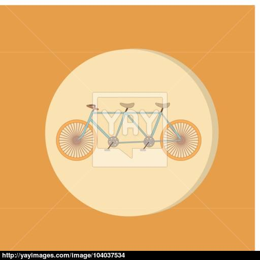 Retro Bicycle Icon, Symbol Of Transport Icon Of A Healthy