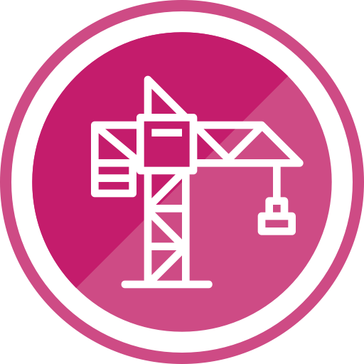 Crane, Construction And Tools, Hook, Construction, Lift Icon