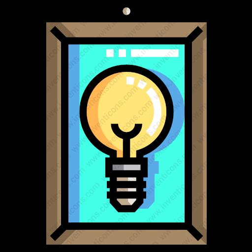 Download Miscellaneous,picture,frame,light,bulb,decorative,art