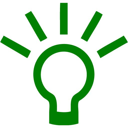 Green Lightbulb Icon