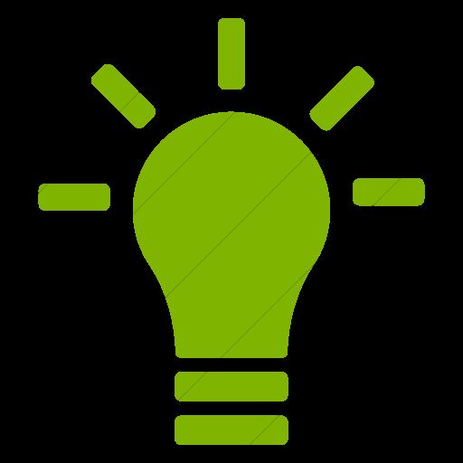Simple Green Foundation Lightbulb Icon