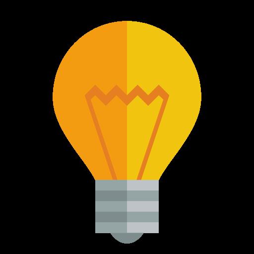 Light Bulb Icon Small Flat Iconset Paomedia
