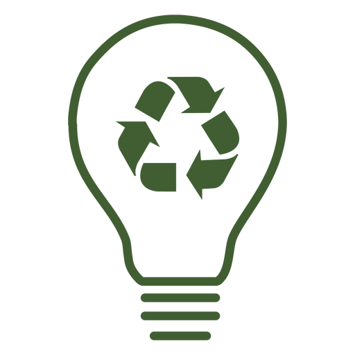 Recycle Light Bulb Icon