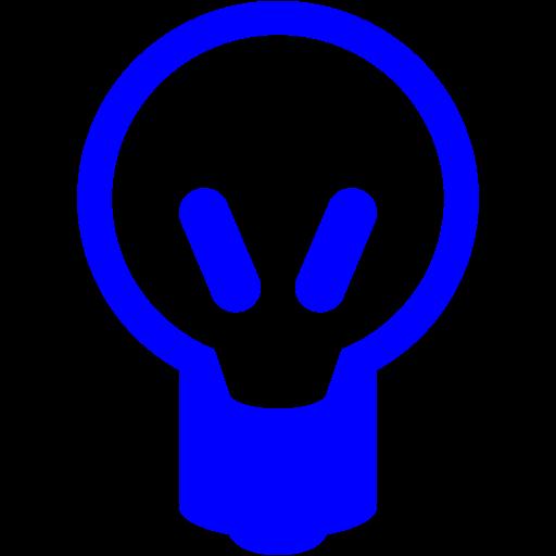 Blue Light Bulb Icon