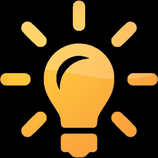 Orange Light Bulb, Idea Icon