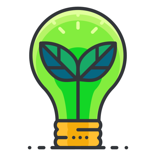 Ecology Light Bulb Icon Free Of Free Filled Outline