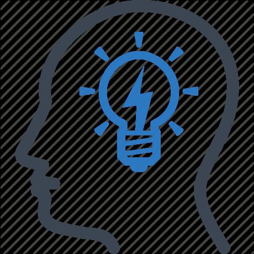 Brainstorming, Business Idea, Head, Light Bulb Icon