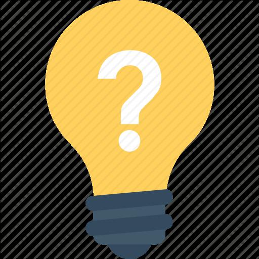 Bulb, Idea, Light Bulb, Question Mark, Thinking Icon