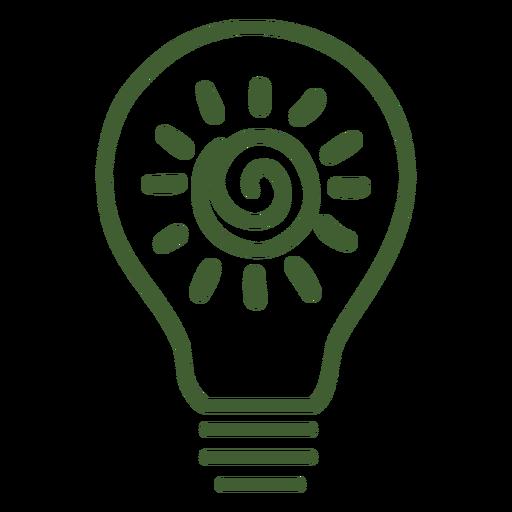 Light Bulb With Sun Inside Icon