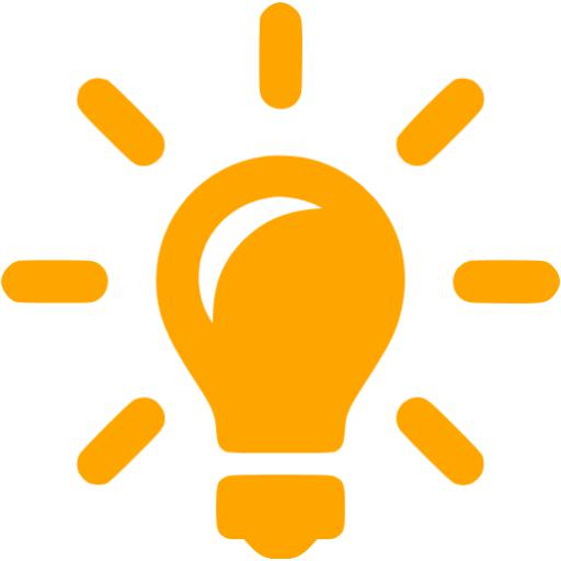 Orange Idea Icon