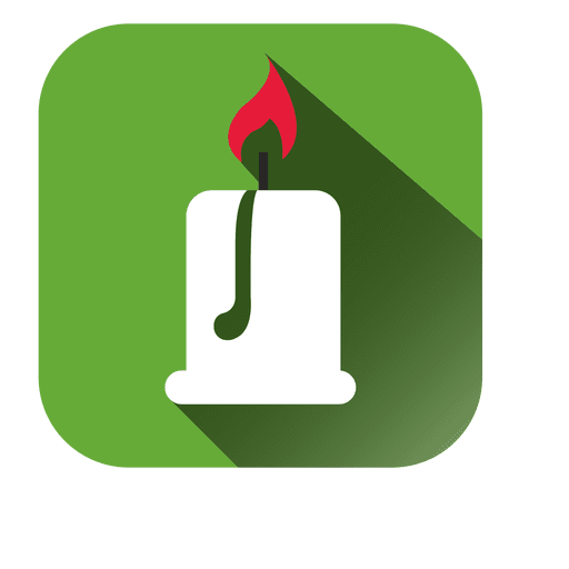 Candle Light Square Icon