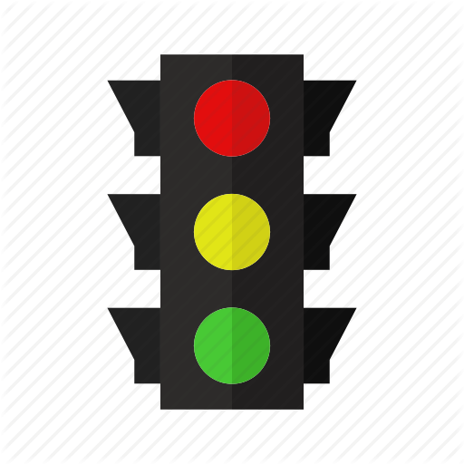 Car, Color, Design, Road, Street, Traffic Light Icon