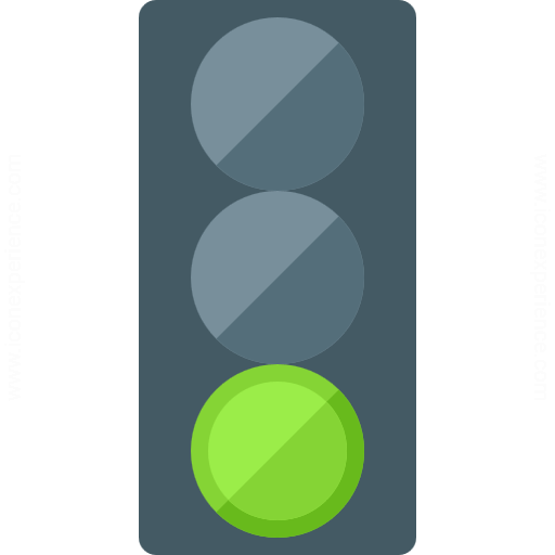 Iconexperience G Collection Trafficlight Green Icon