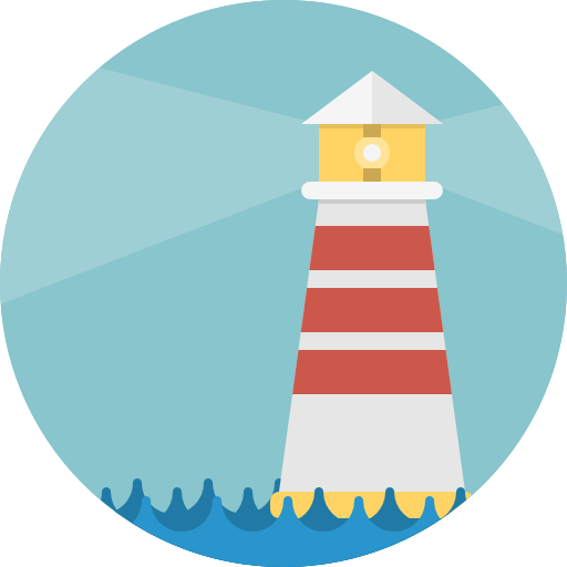 Lighthouse Icon Buildings Pixel Perfect