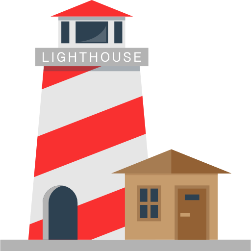 Buildings, Tower, Orientation, Guide, Lighthouse Icon