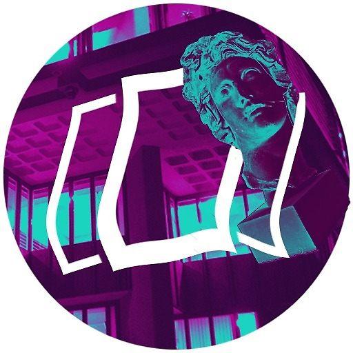 Vaporwave Circle Icon