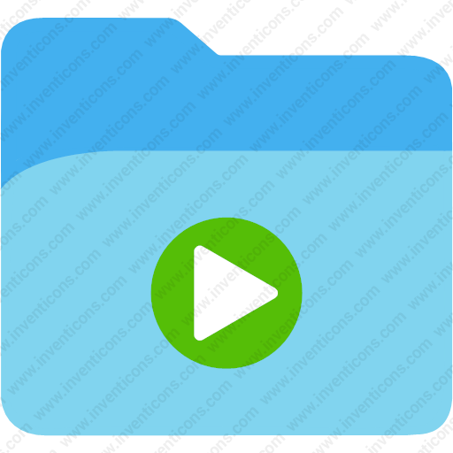 Download Folder Play Button,directory,folder,media,play Icon