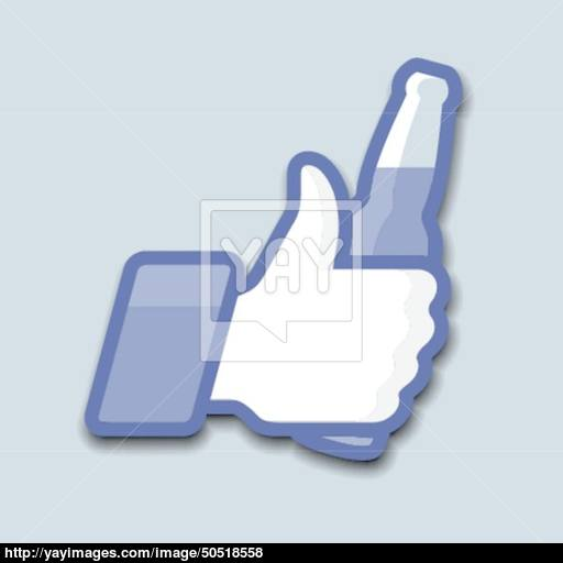 Likethumbs Up Symbol Icon With Beer Bottle Vector