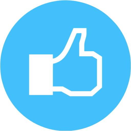 Caribbean Blue Facebook Like Icon
