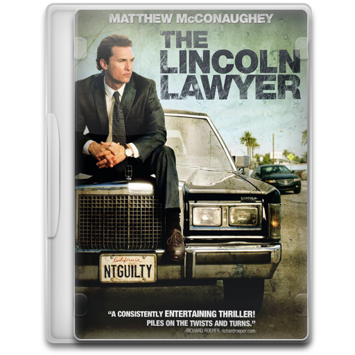 Covers, Cover, The, Lincoln, Lawyer, Movie, Movies Icon Free