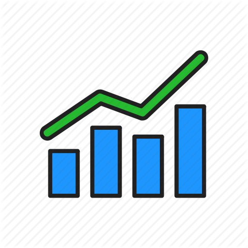 Bar Graph, Chart, Growth, Line Graph Icon