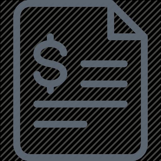 Bill, Certificate, Contract, Financial, Invoice, Money Icon