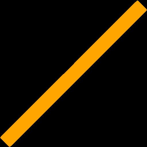 Orange Line Icon