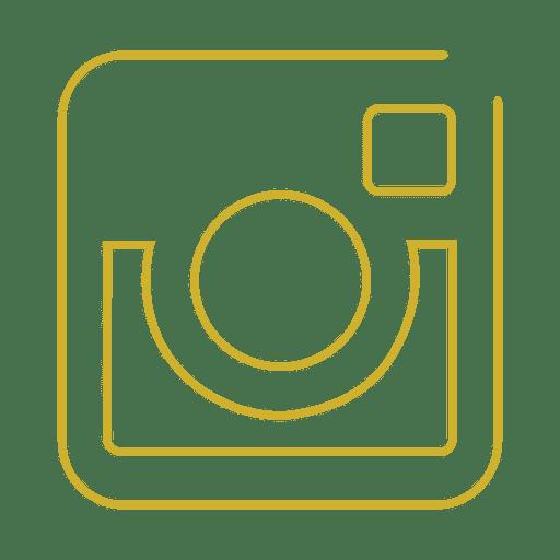 Yellow Instagram Line Icon