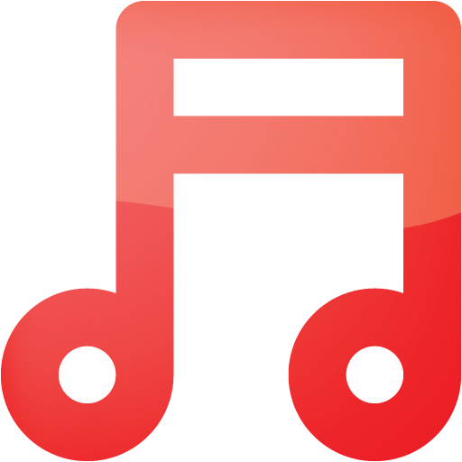 Web Red Music Note Icon