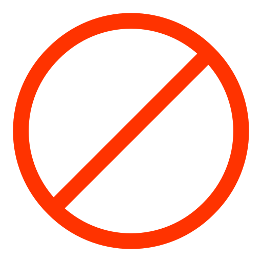 Ban, Circle, Linear Icon Free Of Snipicons Linear